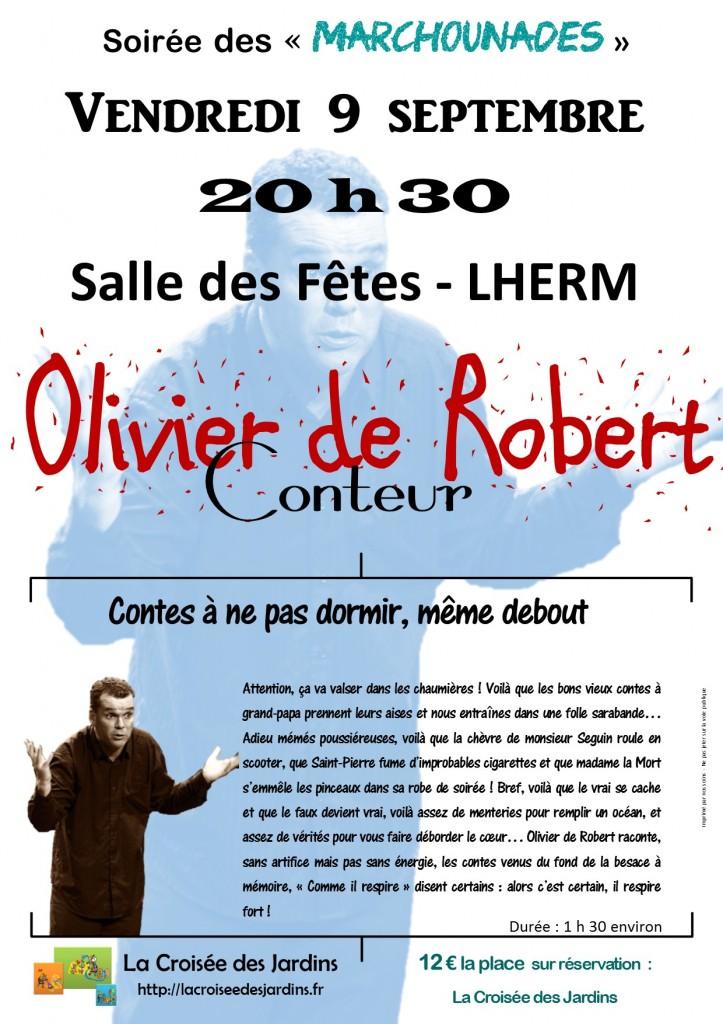 Affiche Olivier de ROBERT A4