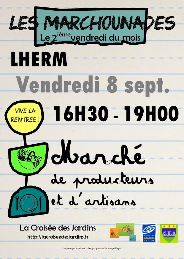 Flyer Les Marchounades - SEPTEMBRE 2017